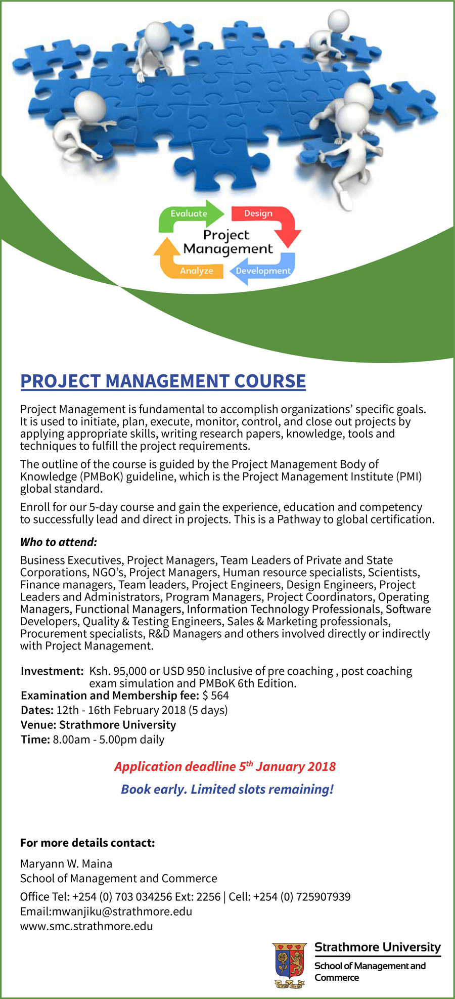 Project Management Course Strathmore University